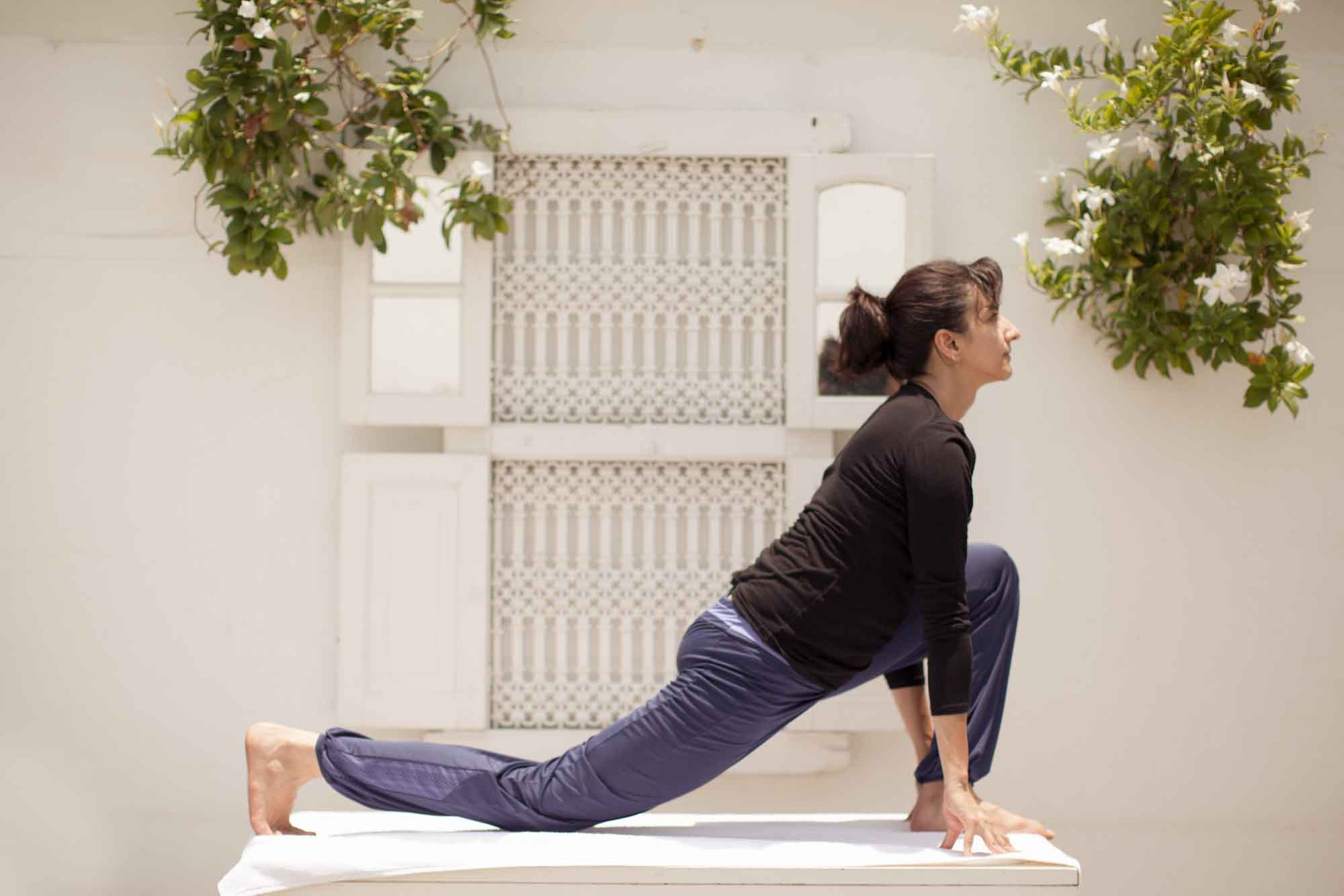 Ashwa Sanchalasana is the Pourth Posture of Sun Salutation. It is also called THE EQUESTRIAN POSE.