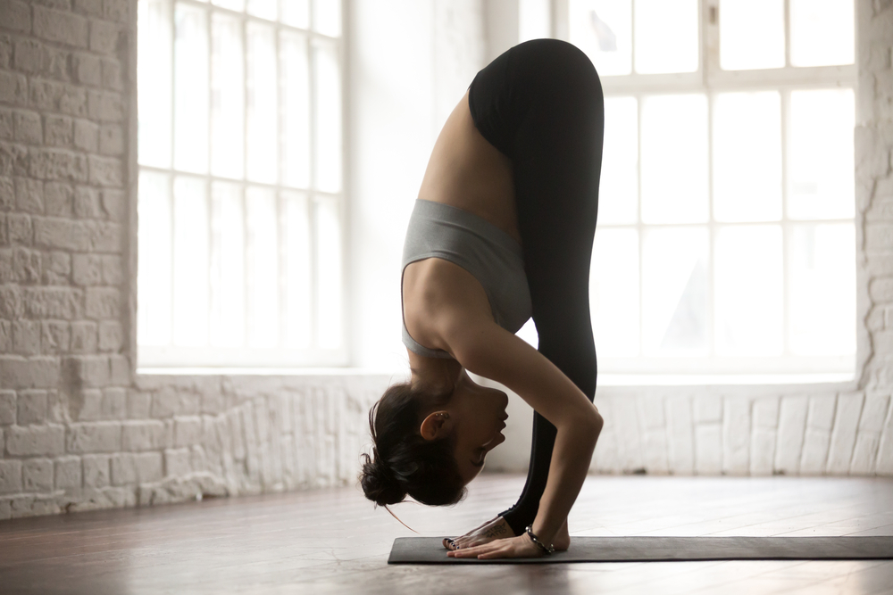 Hasta Padasana is the Third Posture of Sun Salutation. It is also called THE HAND TO FOOT POSE.