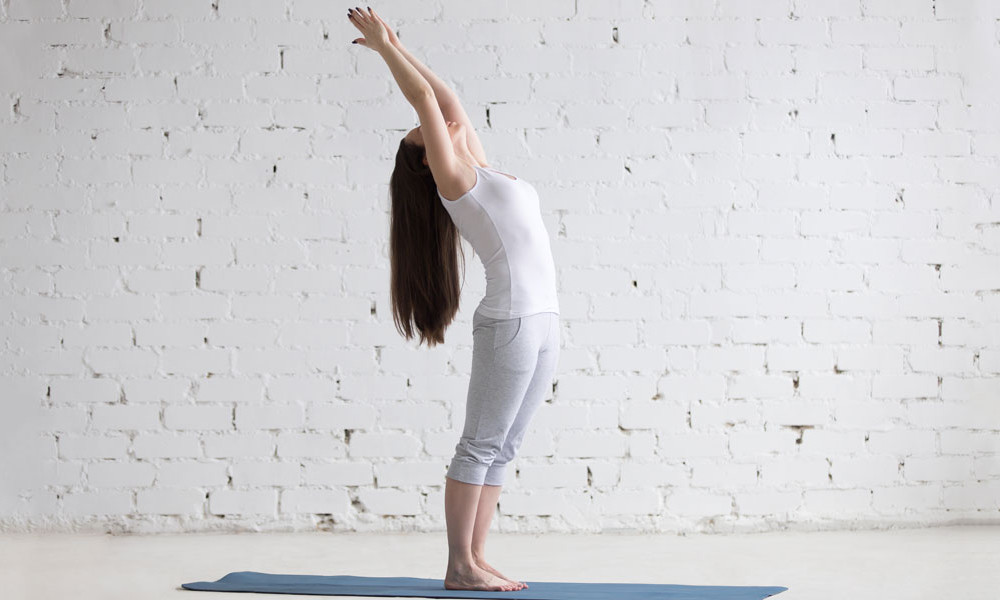 Hasta Uttanasana is the Second Posture of Sun Salutation. It is also called THE RAISED ARMS POSE.