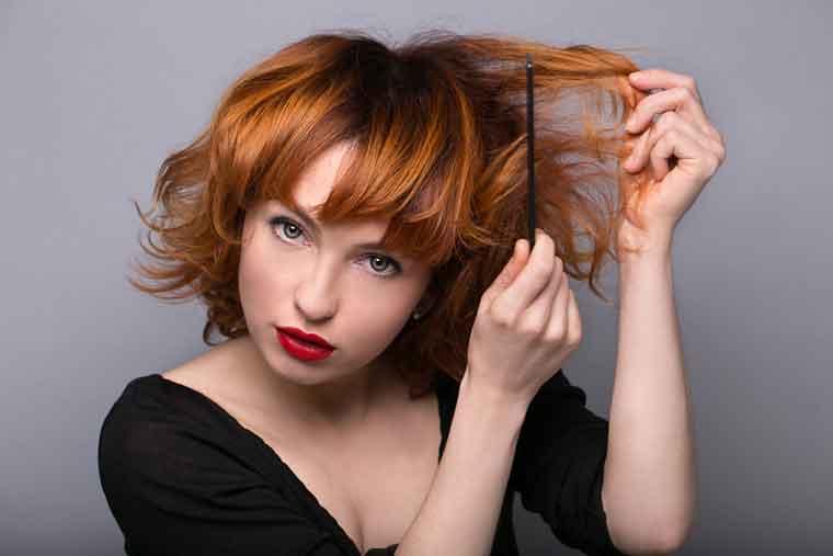 Hair Care Mistakes - Backcombing