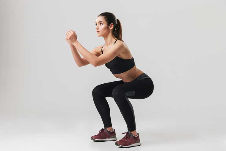 Squats Exercise To Reduce Thigh Fat