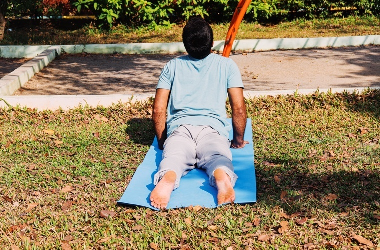 This is the correct Buttocks position in Bhujangasana.
