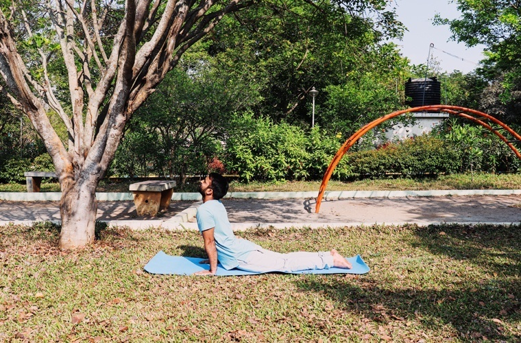 Left Side View of Bhujangasana