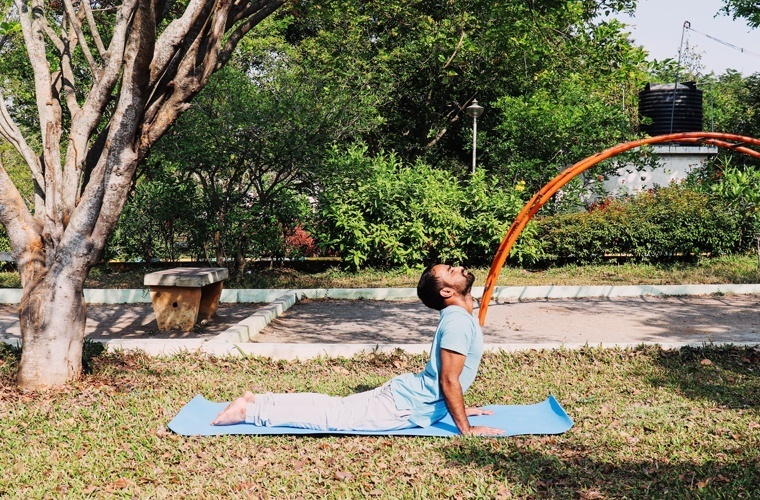 Right Side View of Bhujangasana