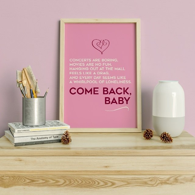 Come back baby Quote in LDR