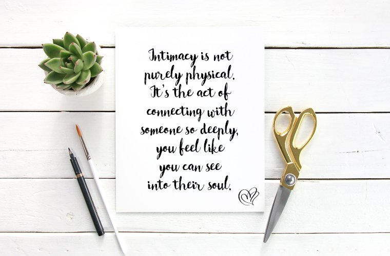 Distance Relationship Quote about Intimacy