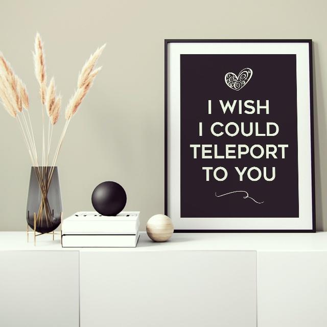 Funny long distance relationship quote about Teleporting