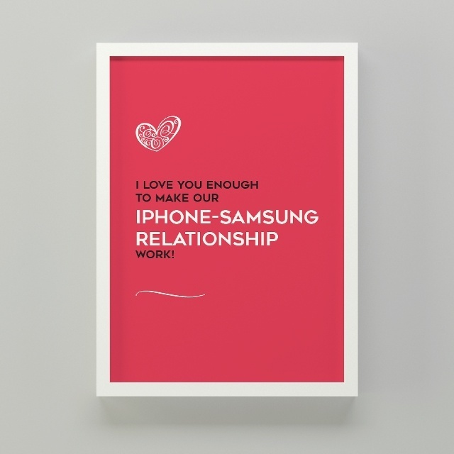 Iphone Samsung LDR Quote