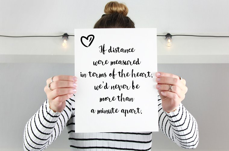 Long Distance Quote for Him
