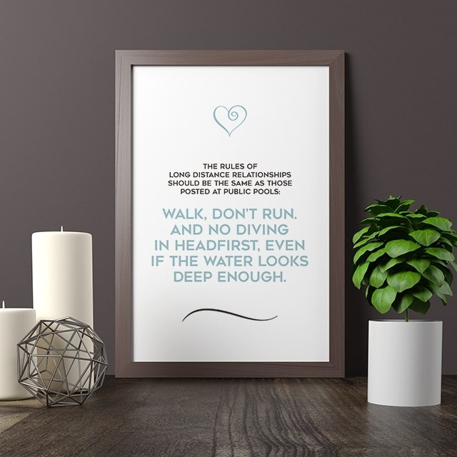 Rules of Long Distance Relationship Quote