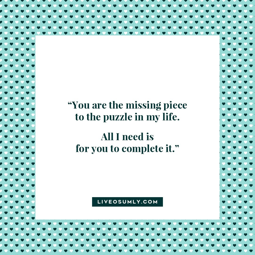 23. Surviving Long Distance Relationship Quotes - Missing piece of the puzzle