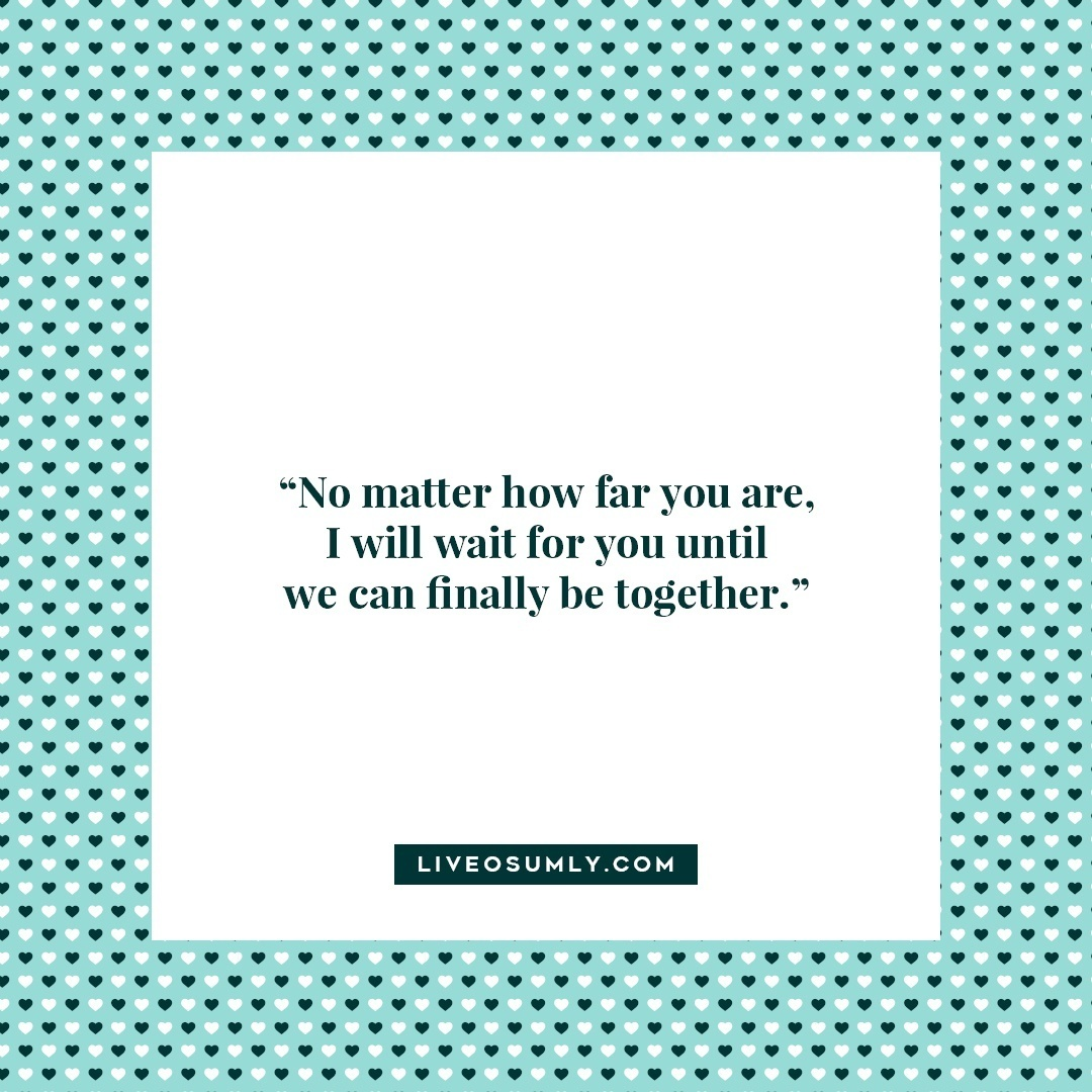 25. Surviving Long Distance Relationship Quotes - I will wait