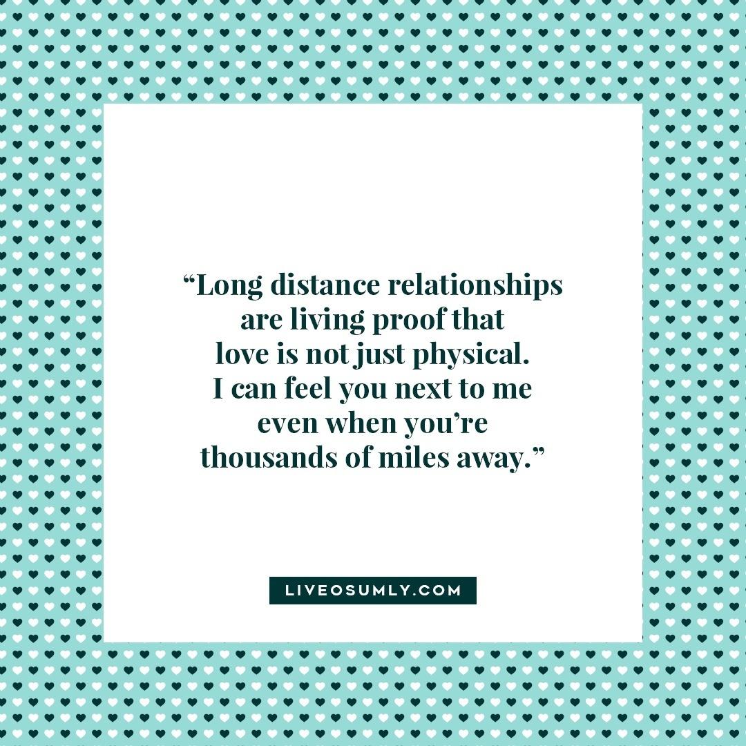 29. Surviving Long Distance Relationship Quotes