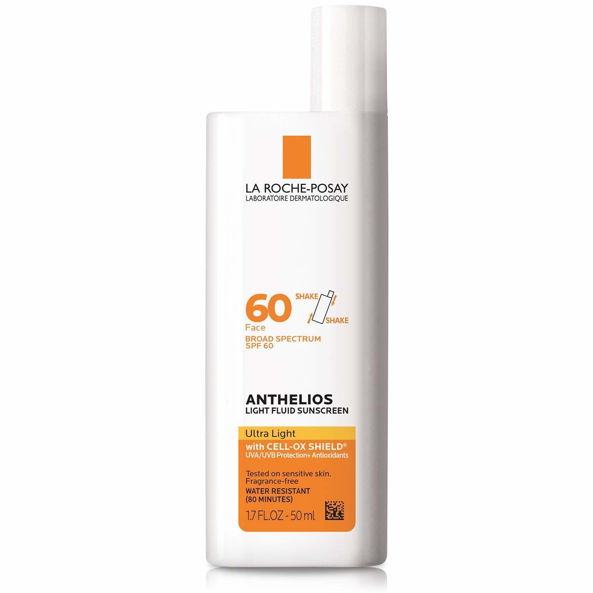 1. La Roche-Posay Anthelios 60 Ultra Light Sunscreen Fluid