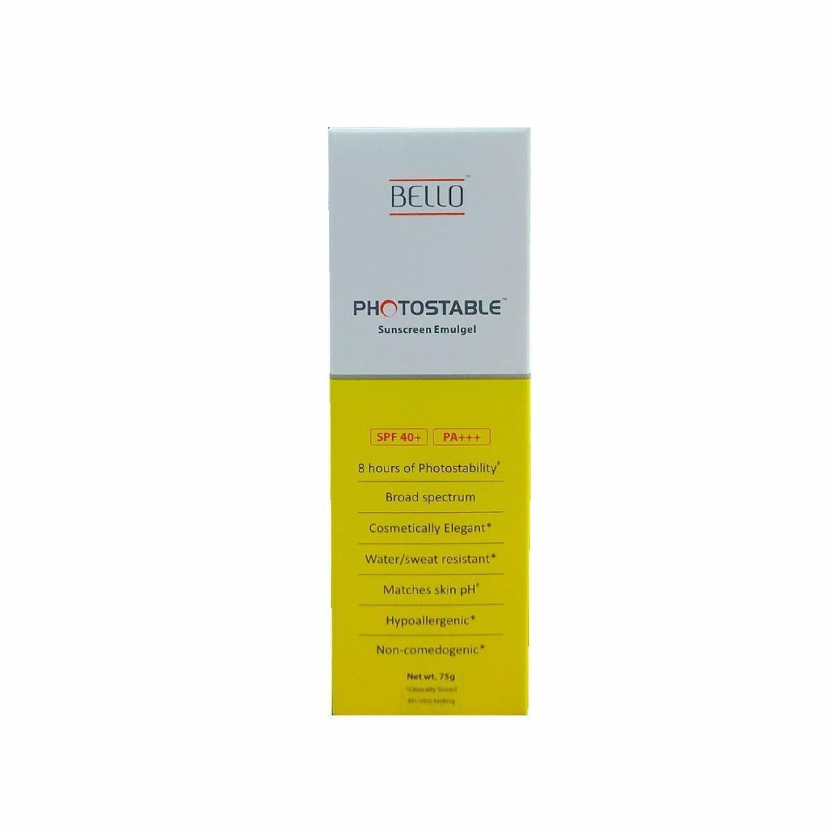 2. Bello Photostable Sunscreen Gel SPF 40+ Pa+++