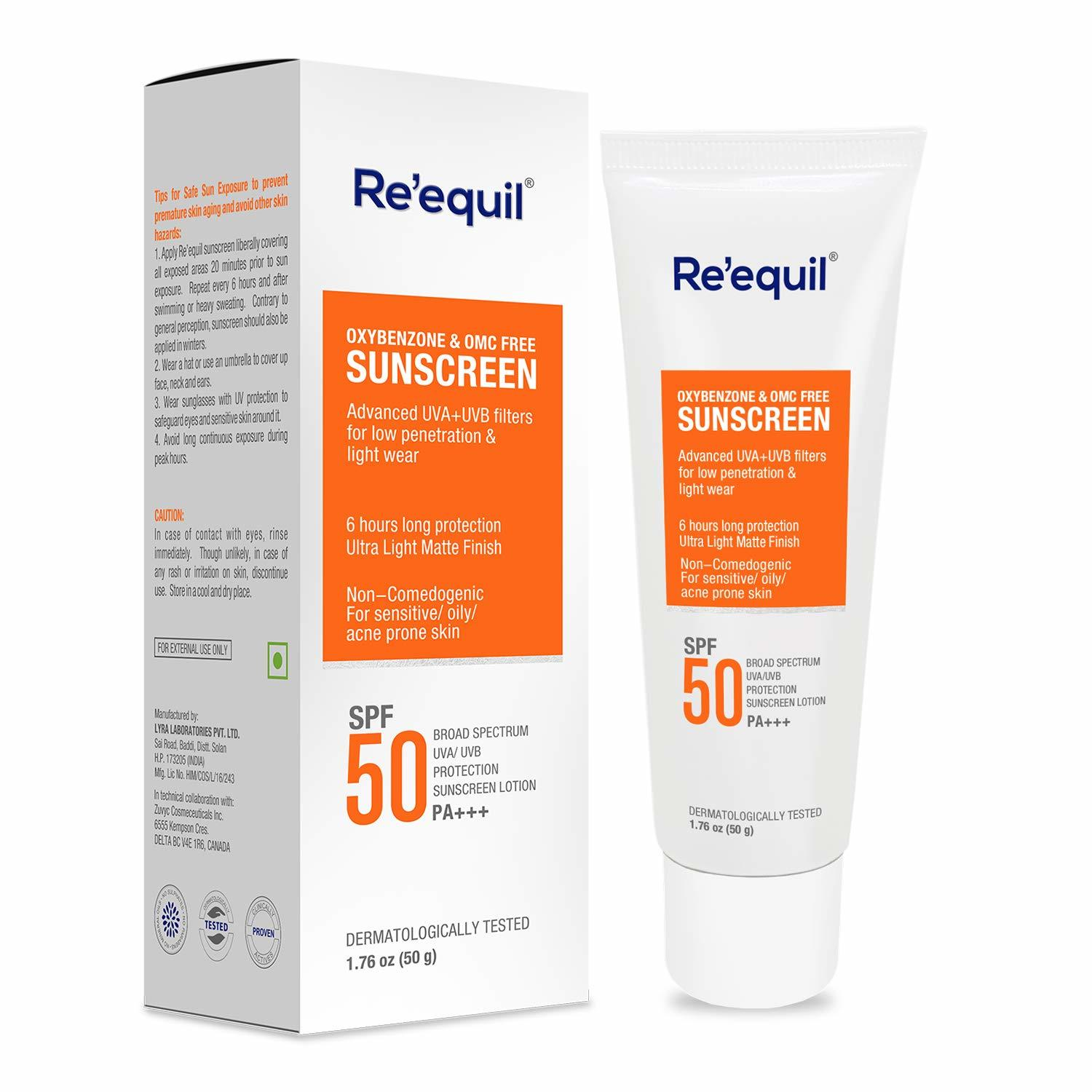 Re' Equil Oxybenzone and OMC Free Sunscreen