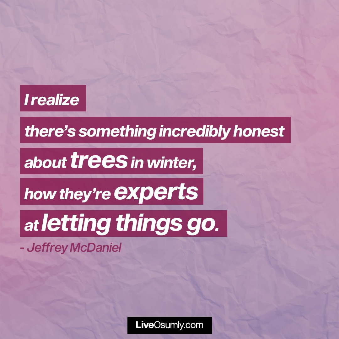 23. Jeffrey McDaniel Quote about Letting Go