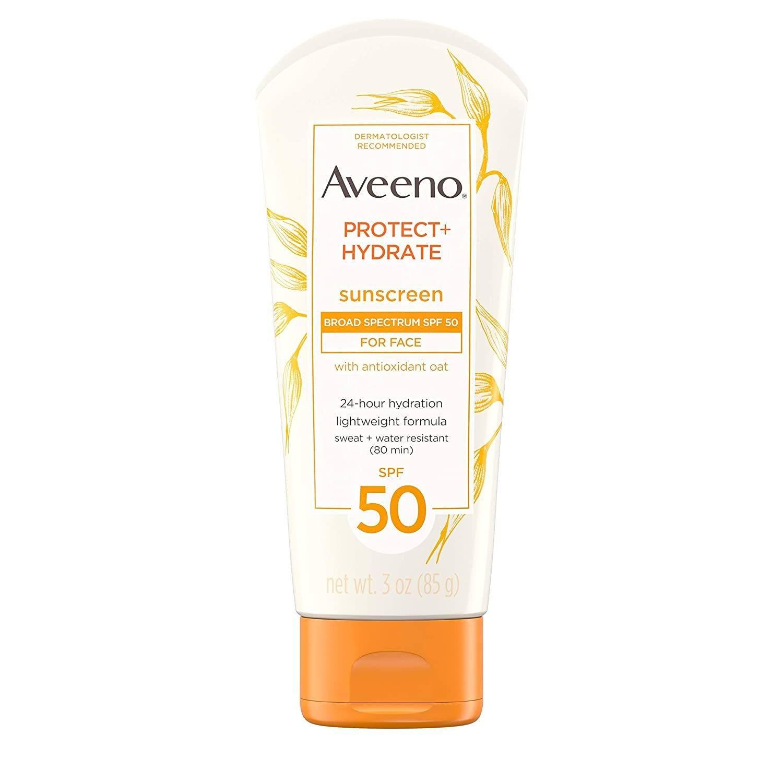 Aveeno Protect + Hydrate Face Moisturizing Facial Sunscreen Lotion