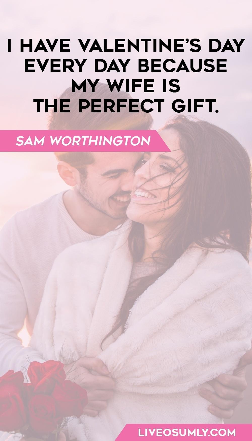 41. Sam Worthington Quotes on V Day